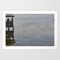 Outerbanks Bay Landscape… Art Print