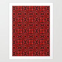 Gothic Red Art Print