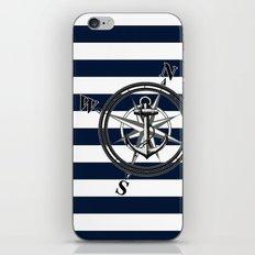 Navy Striped Nautica iPhone & iPod Skin