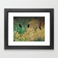 Retro Clouds Framed Art Print