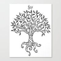 Shirley's Tree BW Canvas Print