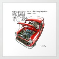 Mini Cooper Classic In R… Art Print