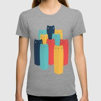 Cats Womens Fitted Tee Tri-Grey SMALL