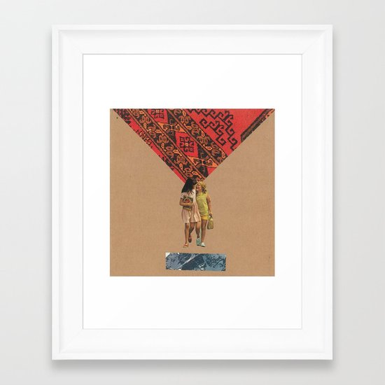 """bff""s Framed Art Print"