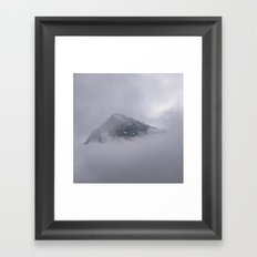 Eiger and Clouds Framed Art Print