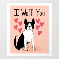 Valentine's Day Boston T… Art Print