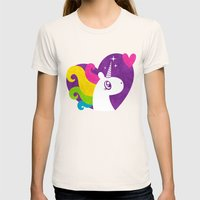 Unicorns Are Real! Womens Fitted Tee Natural SMALL
