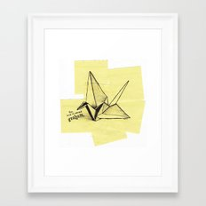 this bird is named graham Framed Art Print