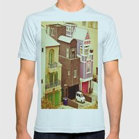 Colorful Condos Mens Fitted Tee Light Blue SMALL