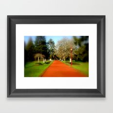 Follow the red Path Framed Art Print