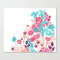 Blush Blossoms Canvas Print
