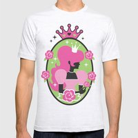 Princess Silhouette Mens Fitted Tee Ash Grey SMALL