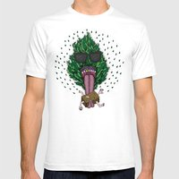 Ras Dude Mens Fitted Tee White SMALL