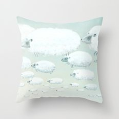 Cloudy Sheep Throw Pillow