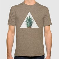 Pineapple Top Mens Fitted Tee Tri-Coffee SMALL