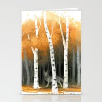 autumn Stationery Cards featuring Autumn Wolf by Freeminds