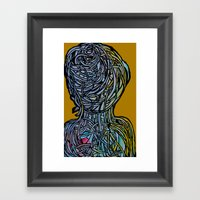 Windower Mustard Framed Art Print
