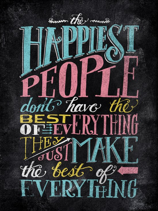 THE HAPPIEST PEOPLE... Canvas Print