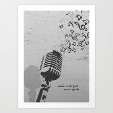 Music speaks Art Print