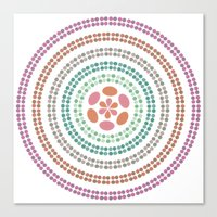 Retro floral circle 2 Canvas Print