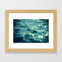 Bokeh Water Framed Art Print