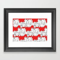 Kitchen Shelves - Red Framed Art Print