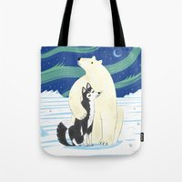 The Polar Bear And The H… Tote Bag