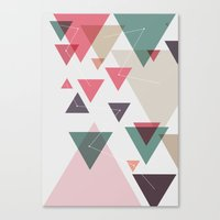 Triângulos ligados Canvas Print