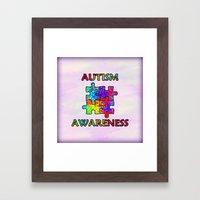 Autism Awareness Framed Art Print
