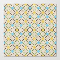 English Country Pattern. Canvas Print