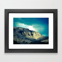 Through the Hills Framed Art Print