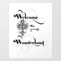 Alice In Wonderland Welcome To Wonderland Art Print