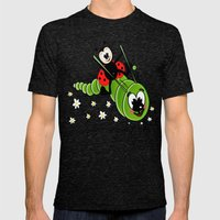 Ladybug And Caterpillar Mens Fitted Tee Tri-Black SMALL