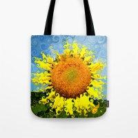 Sunflowers in Suessland Tote Bag