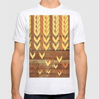 ZigZag Woody Mens Fitted Tee Ash Grey SMALL