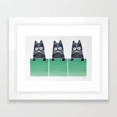 Cats in Boxes Framed Art Print