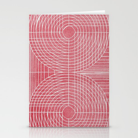 Robotic Boobs Red Stationery Card