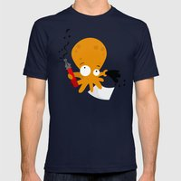 Octopus Mens Fitted Tee Navy SMALL