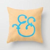 Handmade Ampersand  Throw Pillow