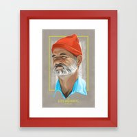 Steve Zissou Life Aquatic  Framed Art Print
