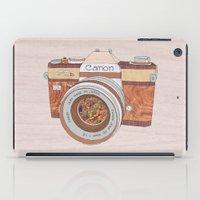 Wood Canon iPad Case