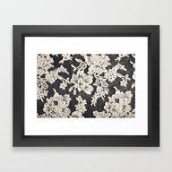 Black And White Lace- Ph… Framed Art Print