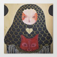 In the Thicket Hides a Foxy Spirit Canvas Print