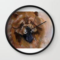 Chow dog portrait Wall Clock