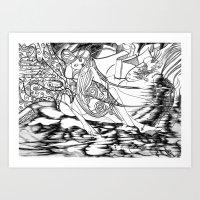 Secret Path / Original A4 Illustration / Pen & Ink Art Print