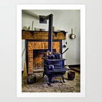 Wood Stove (Painted) Art Print
