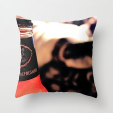 Cold, hard, refreshing Throw Pillow