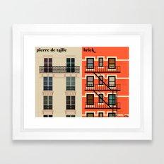 la façade Framed Art Print
