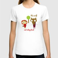 Red Riding Hood Womens Fitted Tee White SMALL