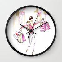 Shopping Spree Wall Clock